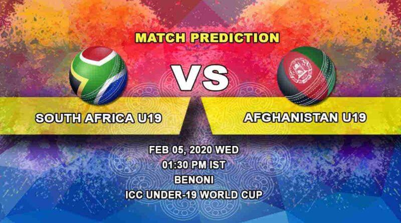 Cricket Prediction - South Africa U19 vs Afghanistan U19 - ICC Under-19 World Cup 05.02