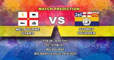 Cricket Prediction - Melbourne Stars vs Sydney Thunder - Challenger - Big Bash League 06.02