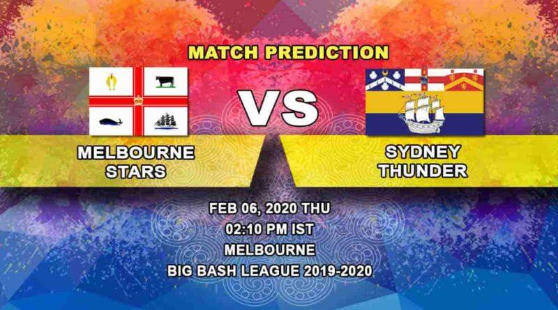 Cricket Prediction - Melbourne Stars vs Sydney Thunder - Challenger - Big Bash League 06.02