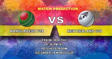 Cricket Prediction - Bangladesh U19 vs New Zealand U19 - Semi Final - ICC Under-19 World Cup 06.02
