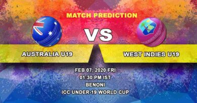 Cricket Prediction - Australia U19 vs West Indies U19 - ICC Under-19 World Cup 07.02