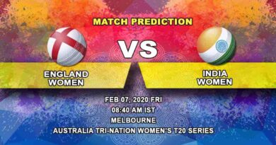 Cricket Prediction - England Women vs India Women - Australia Tri-Nation Women's T20 Series 2019/20 07.02