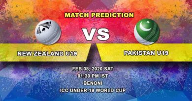 Cricket Prediction - New Zealand U19 vs Pakistan U19 - ICC Under-19 World Cup 08.02