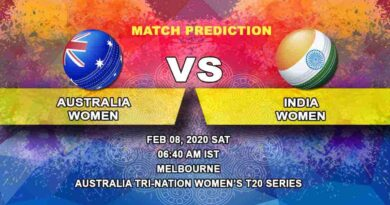 Cricket Prediction - Australia Women vs India Women - Australia Tri-Nation Women's T20 Series 2019/20 08.02