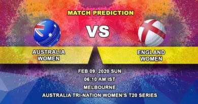 Cricket Prediction - Australia Women vs England Women - Australia Tri-Nation Women's T20 Series 2019/20 09.02