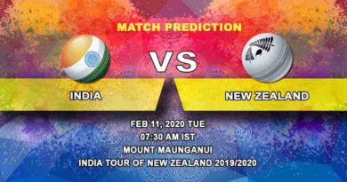 Cricket Prediction - India vs New Zealand - India tour of New Zealand 2019/20 11.02