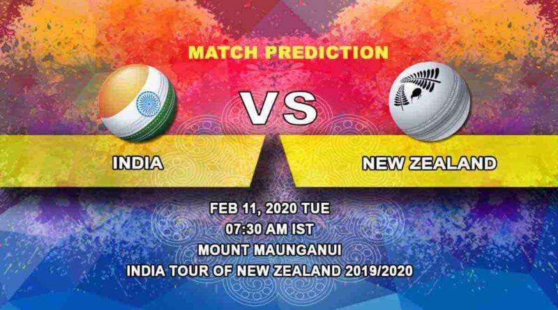 Cricket Prediction - India vs New Zealand - India tour of New Zealand 2019/20 11.02