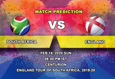 Cricket Prediction - South Africa vs England - England tour of South Africa 2019/20 16.02