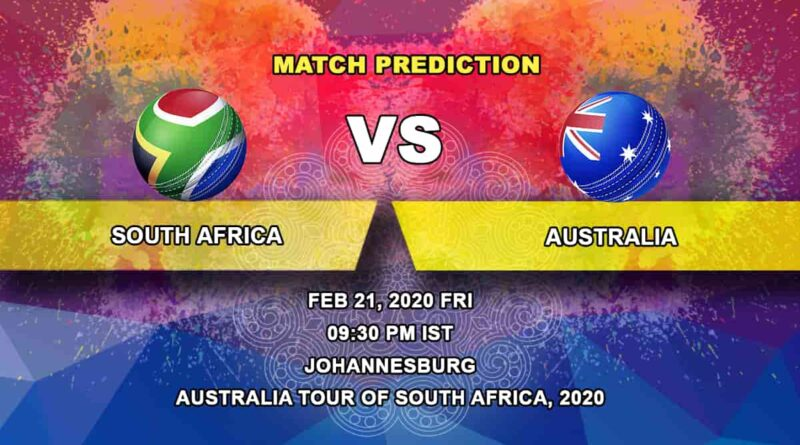 Cricket Prediction - South Africa vs Australia - Australia tour of South Africa 2019/20 21.02