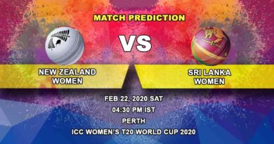 Cricket Prediction - New Zealand Women vs Sri Lanka Women - ICC Women's T20 World Cup 22.02