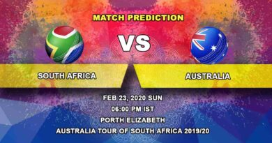 Cricket Prediction - South Africa vs Australia - Australia tour of South Africa 2019/20 23.02