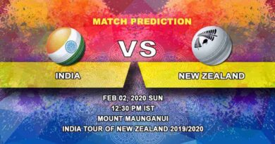 Cricket Prediction - India vs New Zealand - India tour of New Zealand 2019/20 02.02