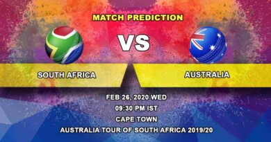 Cricket Prediction - South Africa vs Australia - Australia tour of South Africa 2019/20 26.02