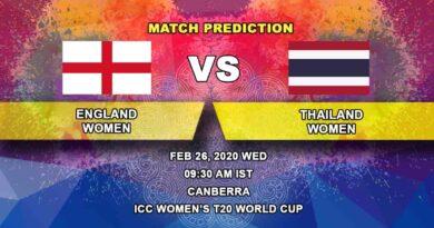 Cricket Prediction - England Women vs Thailand Women - ICC Women's T20 World Cup 26.02