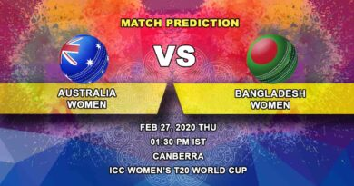 Cricket Prediction - Australia Women vs Bangladesh Women - ICC Women's T20 World Cup 27.02