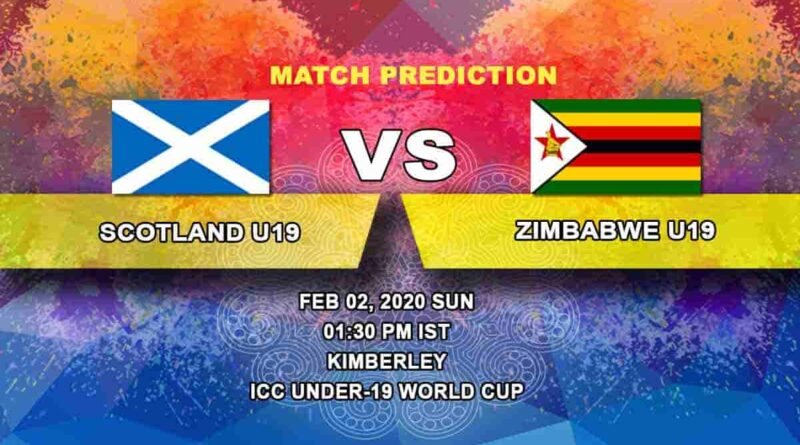 Cricket Prediction - Scotland U19 vs Zimbabwe U19 - ICC Under-19 World Cup 02.02