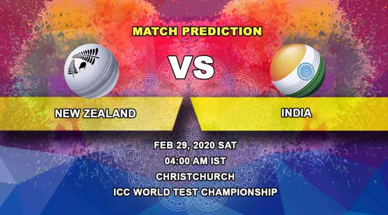 Cricket Prediction - New Zealand vs India - ICC World Test Championship 29.02