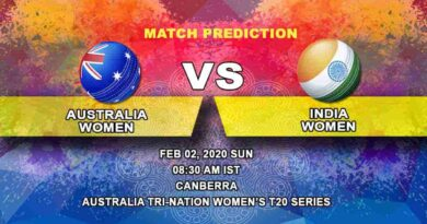 Cricket Prediction - Australia Women vs India Women - Australia Tri-Nation Women's T20 Series 2019/20 02.02