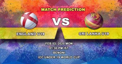 Cricket Prediction - England U19 vs Sri Lanka U19 - ICC Under-19 World Cup 03.02
