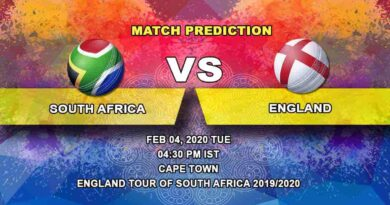 Cricket Prediction - South Africa vs England - England tour of South Africa 2019/20 04.02