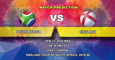 Cricket Prediction - South Africa vs England - England tour of South Africa 2019/20 12.02