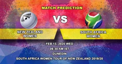 Cricket Prediction - New Zealand Women vs South Africa Women - South Africa Women tour of New Zealand 2019/20 13.02