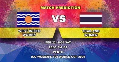 Cricket Prediction - West Indies Women vs Thailand Women - ICC Women's T20 World Cup 22.02