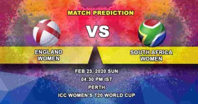 Cricket Prediction - England Women vs South Africa Women - ICC Women's T20 World Cup 23.02