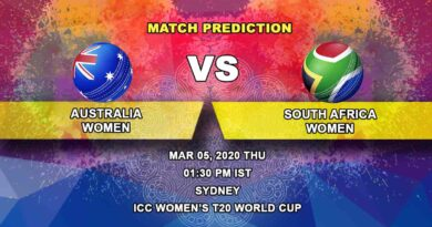 Cricket Prediction - Australia Women vs South Africa Women – Semi Final - ICC Women's T20 World Cup 05.03