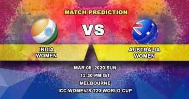 Cricket Prediction - India Women vs Australia Women - Final - ICC Women's T20 World Cup 08.03