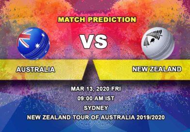 Cricket Prediction - Australia vs New Zealand - New Zealand tour of Australia 2019/20 13.03