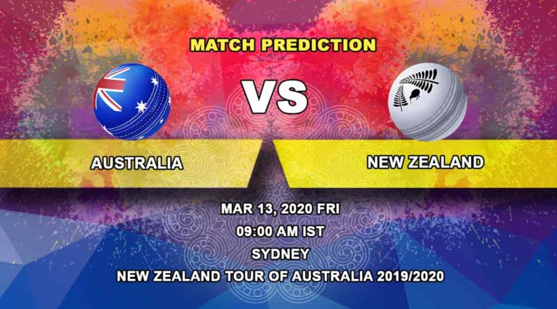 Cricket Prediction - Australia vs New Zealand - New Zealand tour of Australia 2019/20 13.03