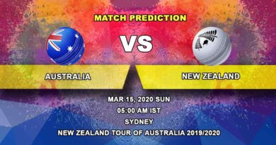 Cricket Prediction - Australia vs New Zealand - New Zealand tour of Australia 2019/20 15.03