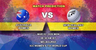 Cricket Prediction - Australia Women vs New Zealand Women - ICC Women's T20 World Cup 02.03