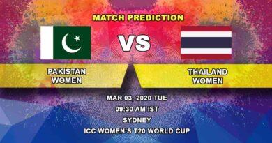Cricket Prediction - Pakistan Women vs Thailand Women - ICC Women's T20 World Cup 03.03