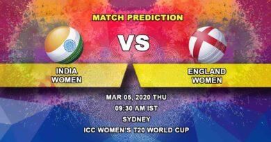 Cricket Prediction - India Women vs England Women – Semi Final - ICC Women's T20 World Cup 05.03