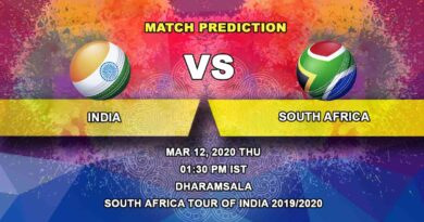Cricket Prediction - India vs South Africa - South Africa tour of India 2019/20 12.03